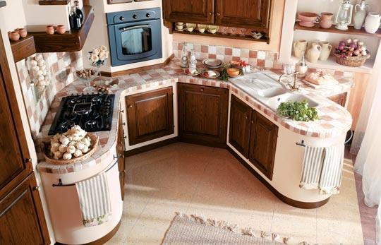 Cucine in Muratura e vero legno - Le Cucine dei Mastri