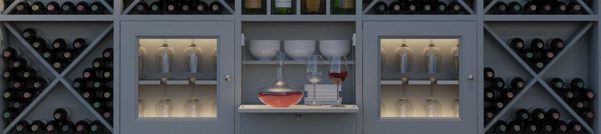 Arredamento enoteca, cantina, mobili per wine bar  Le Cucine dei ...