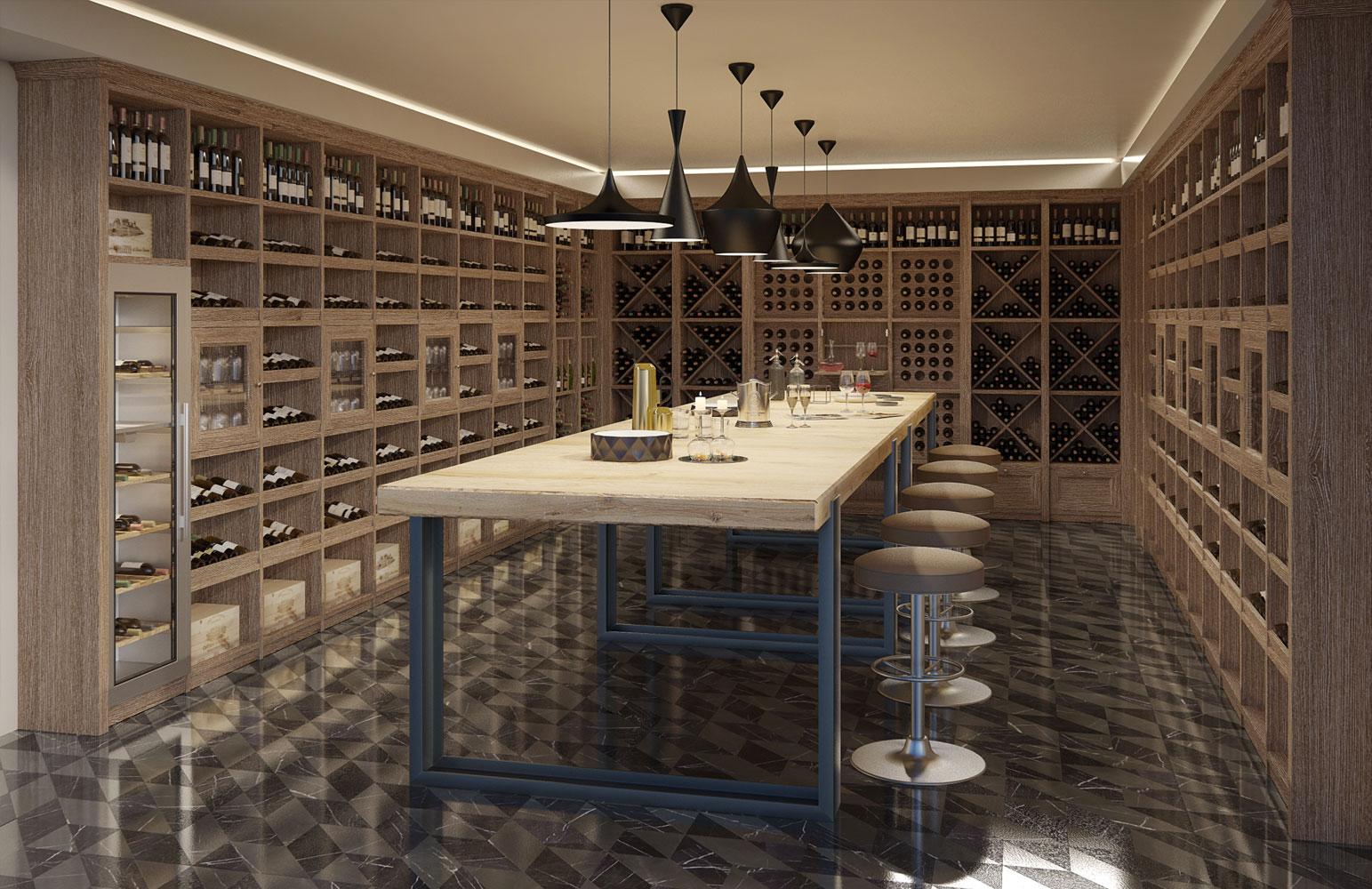 Arredamento enoteca cantina mobili per wine bar le for Arredamento enoteca